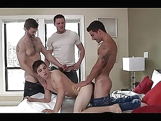 Morning Foursome Fuck man (gay) gay porn (gay) bareback (gay)