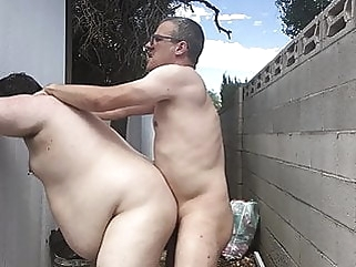 Backyard fuck amateur (gay) bareback (gay) bear (gay)