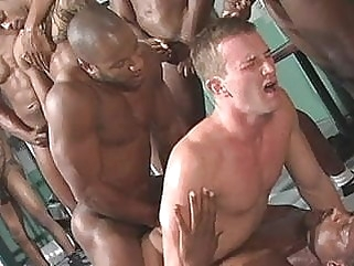 Gay Interracial Double Anal Penetration man (gay) black (gay) gay porn (gay)