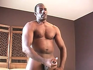 Black daddy Colton relaxes after work by pleasuring himself black gays (gay) gays (gay) masturbation (gay)