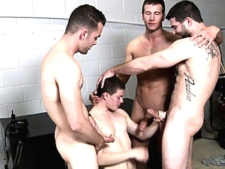 Tyler Sweet sucking five cocks at orgy blowjob (gay) gays (gay) group sex (gay)