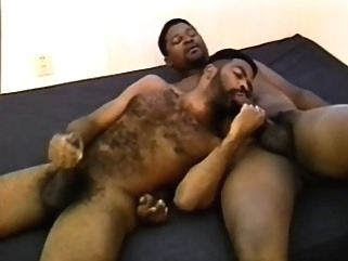 Horny black lovers putting their mouths to work on each other's dicks bears (gay) big cocks (gay) black gays (gay)