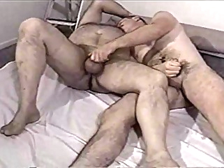 A younger men and older man playing with each other dick gay bear gay daddy gay masturbation