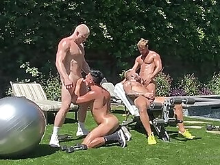Boys in the Yard anal cumshot amateur