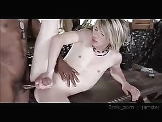 Slim Blond Boy on Black Cock black (gay) gay porn (gay) twink (gay)