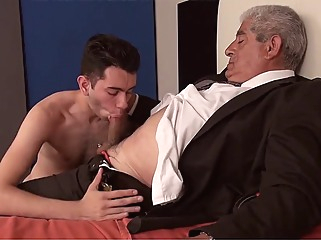 Incredible homemade gay video with Daddies, Young/Old scenes gay amateur gay bareback gay blowjob