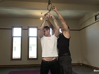 Hot Stud Hayden Richards Bound and Edged for First Time gay bdsm gay handjob gay hd