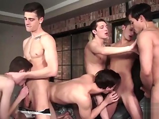 Inside Helix: The Orgy [Bareback] Travis Stevens, Ashton Summers, Johnny Hands, Riley Finch, gay bareback gay cumshot gay group sex